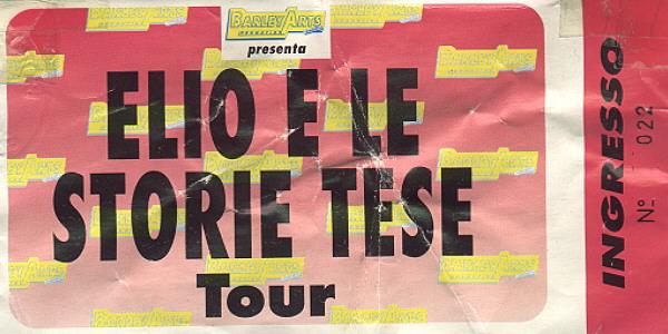 Biglietto di Elio e le Storie Tese a Cigliano 1994